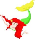 Schöne Meerjungfraukarikatur Stockfotos