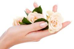 Schöne Nägel und Finger Lizenzfreie Stockfotografie