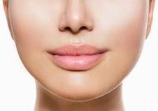 Schöne perfekte Lippen Stockfotografie