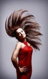 Schöne und reizvolle Frau Stockfotografie