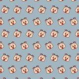 Schnecke - emoji Muster 62 vektor abbildung