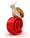 Schnecke und E-Mail (Beschneidungspfad eingeschlossen) Lizenzfreie Stockfotografie