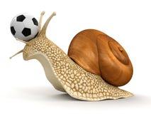 Schnecke und Fußball (Beschneidungspfad eingeschlossen) Lizenzfreie Abbildung