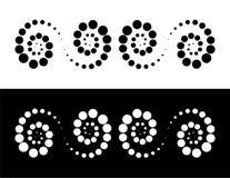 Schnecken, Spiralen Stockfoto
