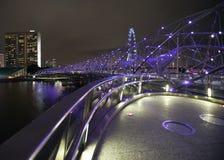 Schneckenbrücke Singapur Stockfotografie