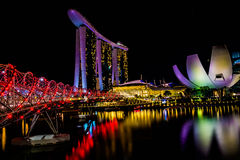 Schneckenbrücke Singapur stockbilder