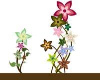 Schneckenbunc Blumen Stock Abbildung