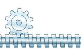 Schneckengetriebeillustration lizenzfreie abbildung