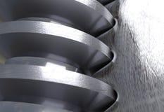 Schneckengetriebepaare der Gänge Abbildung 3D Lizenzfreie Stockbilder
