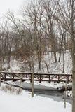 Schnee-überdachte Brücke Lizenzfreies Stockfoto