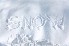 Schnee Lizenzfreie Stockbilder