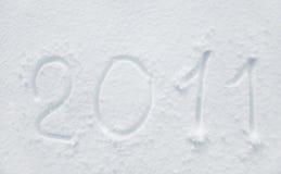 Schnee 2011 Stockfotografie