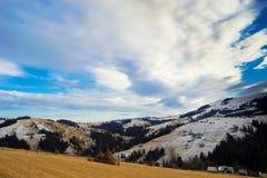 Schnee auf Berg Stockbild