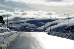 Schnee auf Berg Hotham lizenzfreies stockfoto
