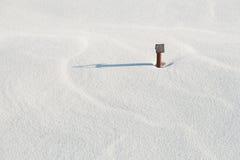 Schnee auf dem Dach Stockbild