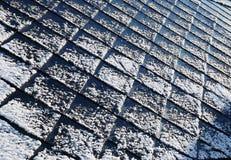 Schnee auf dem Dach Lizenzfreie Stockfotos