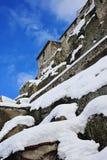 Schnee auf den Felsen Lizenzfreies Stockbild