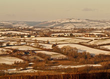 Schnee auf den Tälern in Wales Stockfotos