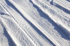 Schnee auf der Straße, Winter Stockbilder