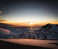 Schnee auf Mauna Kea Lizenzfreies Stockfoto