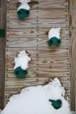 Schnee auf playset Stockfotografie