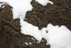 Schnee auf Sand S Lizenzfreies Stockfoto