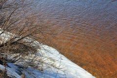 Schnee auf Strand fünf Stockfoto