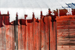 Schnee auf Tin Roof Lizenzfreie Stockbilder