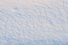 Schnee aus den Grund Stockbild