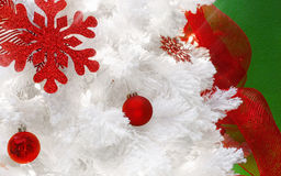 Schnee-Baum der weißen Weihnacht Lizenzfreie Stockbilder