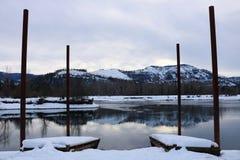 Schnee bedeckte Cataldo-Berge Stockfoto