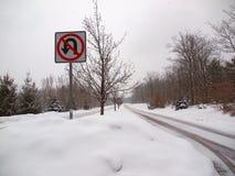 Schnee bedeckte Land-Straße Lizenzfreie Stockbilder