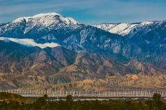 Schnee bedeckter Berg San Jacinto Lizenzfreie Stockbilder