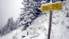 Schnee bei Ettal Lizenzfreies Stockfoto