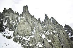 Schnee, Berg, Klettern und Abenteuer stockfotografie