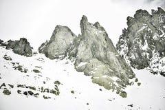 Schnee, Berg, Klettern und Abenteuer stockfoto