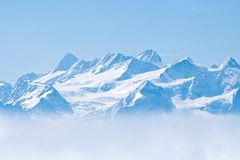 Schnee-Berg Pilatus Lucern Lizenzfreie Stockfotos