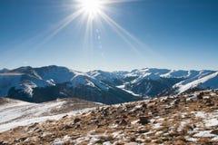 Schnee-Berge Stockfotografie