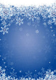 Schnee blättert Blau ab Stockbild