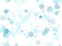 Schnee blättert fallende Makrovektorgrafik, Weihnachtsschneeflocken ab vektor abbildung