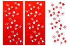 Schnee blättert Weihnachtsaufbau ab Lizenzfreies Stockbild