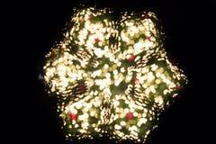 Schnee bokeh für Weihnachtshintergrund Stockfoto
