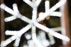 Schnee bokeh für Weihnachtshintergrund Lizenzfreie Stockbilder