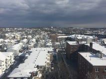 Schnee in Connecticut Stockfotos
