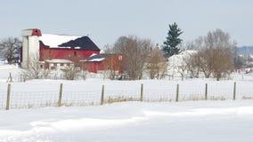 Schnee deckte Ackerland ab Lizenzfreies Stockbild