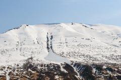 Schnee deckte Berg ab Lizenzfreie Stockfotos