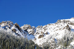 Schnee deckte Berg ab Lizenzfreie Stockfotografie