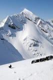 Schnee deckte Berge ab Lizenzfreie Stockbilder
