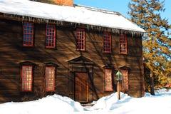 Schnee in Deerfield Lizenzfreie Stockfotos