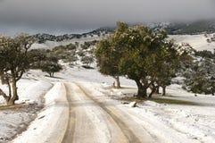 Schnee in den Atlas-Bergen - Marokko Lizenzfreie Stockfotos